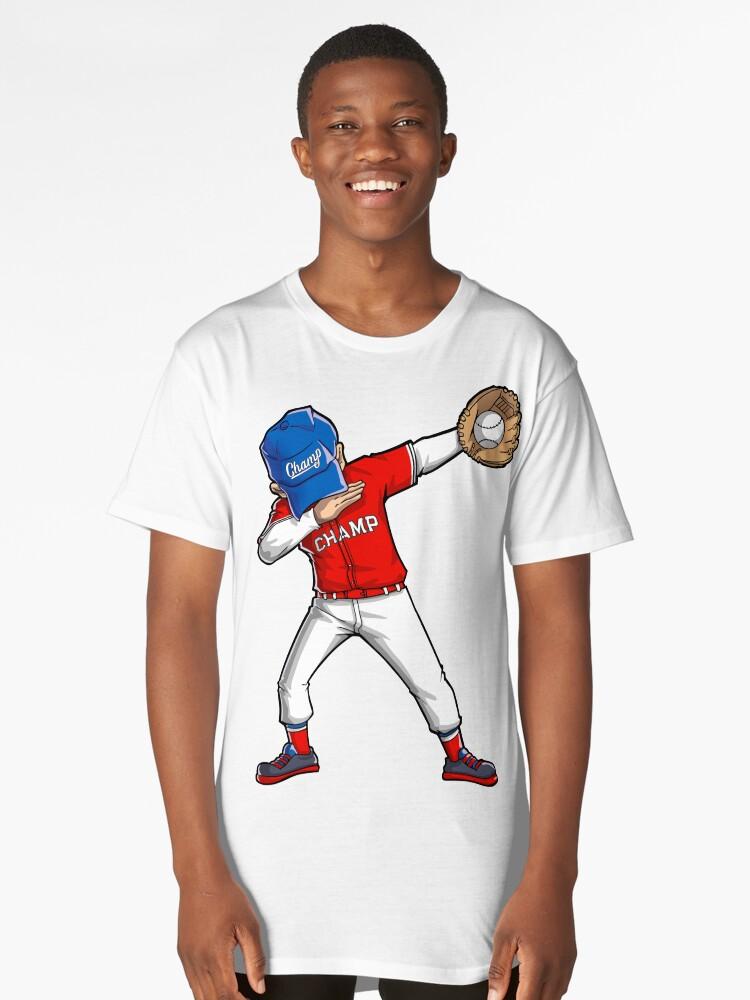Camisetas largas «Camiseta de béisbol Dabbing Camiseta de baile Dab ...