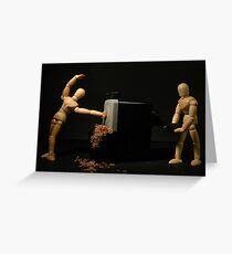Accident du travail Greeting Card