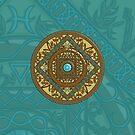 Pisces Mandala by Valerie Hartley Bennett