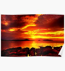 Bunbeg Fiery Sunset Poster