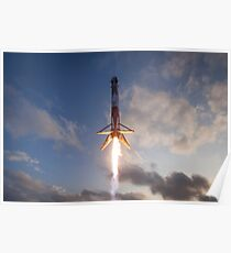 SES-10 Mission  Falcon 9 First Stage Landing 2 Poster