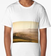 Morning fog view in Tuscany Long T-Shirt