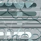 Abstract lines and curves - Blue grey by Adriano Carrideo
