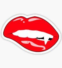 Vampire Lip Bite Sticker