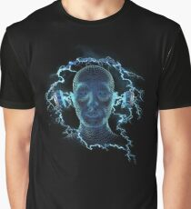 Electrically charged Headphones Graphic T-Shirt