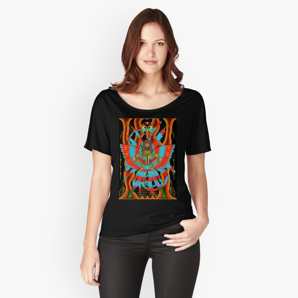 Fire Fairy - Egyptian Fire Fairy Assassin Women's Relaxed Fit T-Shirt Front