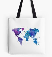 Watercolor Map of the World Tote Bag