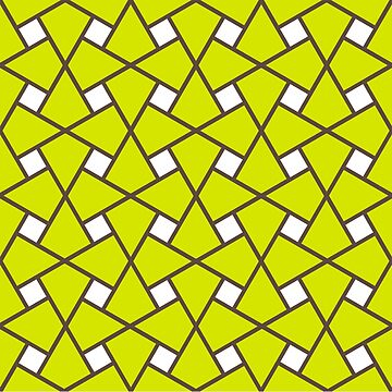 Geometric Pattern: Square Twist: Green by redwolfoz