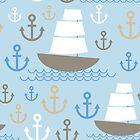 Sailboat on blue background by EkaterinaP