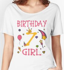 Birthday 7 year old Girl Gift Women's Relaxed Fit T-Shirt