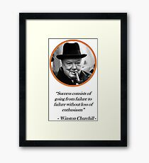 [Quote] Winston Churchill - Success Framed Print