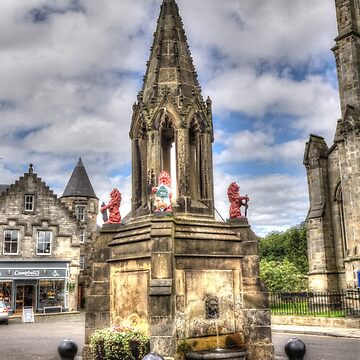 The Bruce Fountain , Falkland - Outlander location  by goldyart
