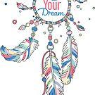 Lebe deinen Traum Dream Catcher - Pastellfarben von XOOXOO