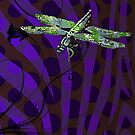 Psychedelic Dragonfly by Joanne Phillips