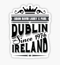 u2 dublin ireland vintage Sticker