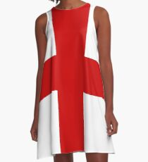Flag Of England George Cross A-Line Dress