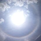 Sun halo near Kisoro, Uganda by Rosie Appleton