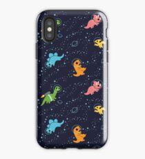 Vinilo o funda para iPhone Dinosaurios en el espacio