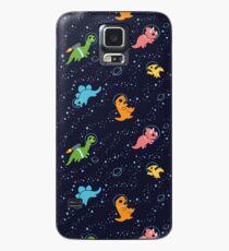 Funda/vinilo para Samsung Galaxy Dinosaurios en el espacio