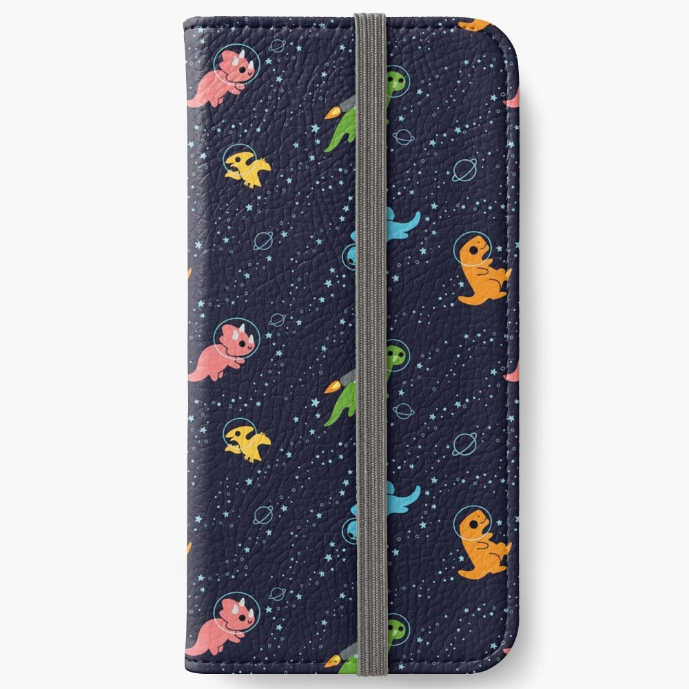 Dinosaurs In Space iPhone Wallet