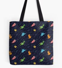 Dinosaurs In Space Tote Bag
