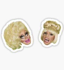 Trixie und Katya Green Screen Sticker