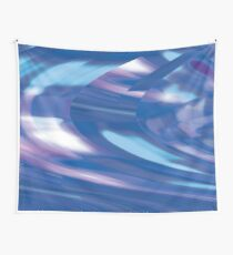 Time Traveler III | Abstract Interstellar Blue Shift Wall Tapestry