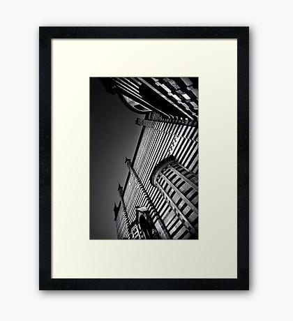 Striped Cathedral - Verona Framed Print