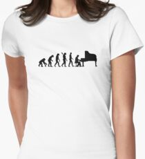Evolution Grand Piano Women's Fitted T-Shirt
