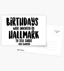Birthday - Ron Swanson Quote Postcards