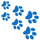 Cat Paws - Blue by catloversaus