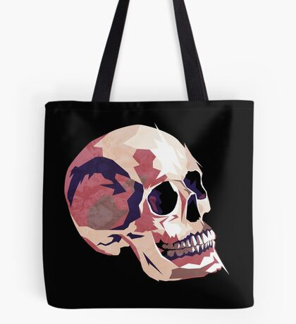 Skull pink Halloween Tote Bag