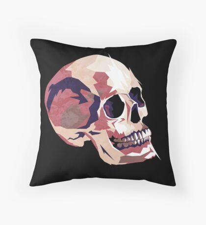 Skull pink Halloween Throw Pillow
