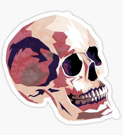 Skull pink Halloween Sticker