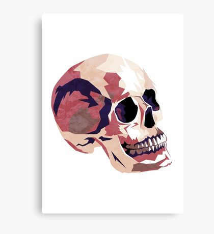 Skull pink Halloween Canvas Print