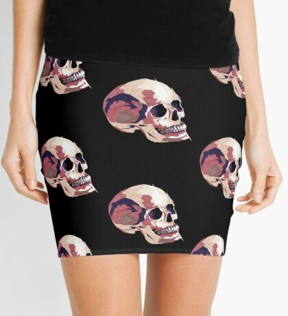 Skull pink Halloween Mini Skirt