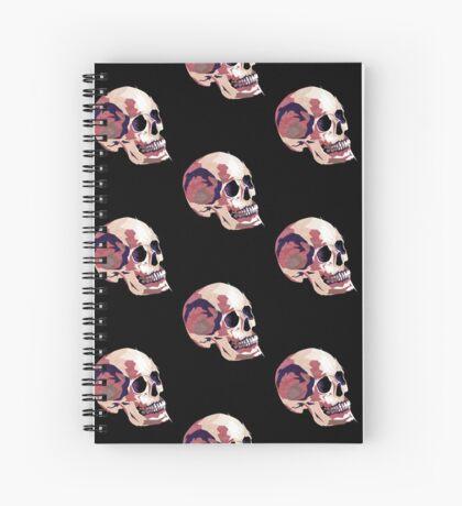 Skull pink Halloween Spiral Notebook