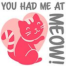 You Had Me at Meow - Pink by catloversaus