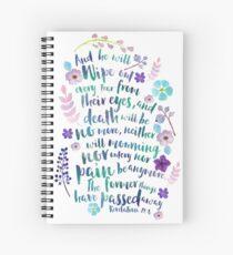 Revelation 21:4 (Purple Flowers) Spiral Notebook