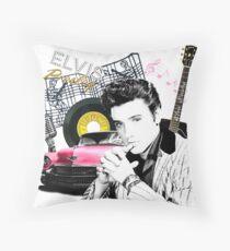 Elvis Presley collage Throw Pillow