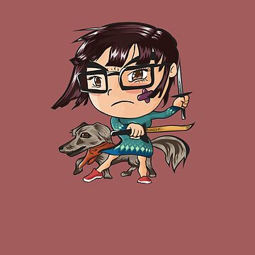 A Girl and Her Diredog by swifthawk88
