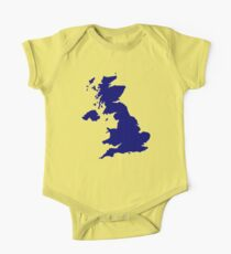 Great Britain Map One Piece - Short Sleeve