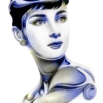 SilverScreenStar: Audrey Hepburn by wu-wei