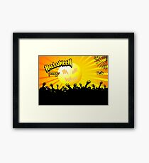 Zombies to attack on Halloween night Framed Print
