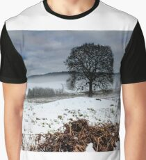 Lonely Oak Tree Graphic T-Shirt