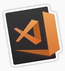 visual studio code  - orange Sticker