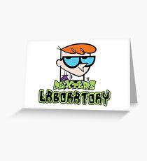 dexter's lab Greeting Card