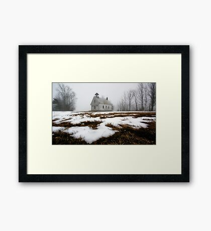 One Room Schoolhouse - Harrison,  Maine Framed Print