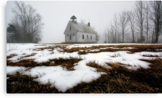 One Room Schoolhouse - Harrison,  Maine by T.J. Martin