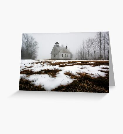 One Room Schoolhouse - Harrison,  Maine Greeting Card